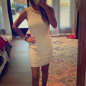 White tailored lined dress sz S